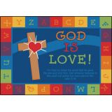 God is Love Learning Rug, 3'10 x 5'5 Rectangle