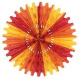 Golden-Yellow, Orange and Red 25 Tissue Fan