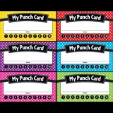 Polka Dot Punch Cards
