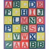 15 Wooden Alphabet Blocks