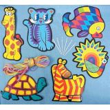 6 Lacing Cards, Set of 6
