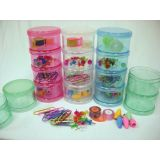 4-in-1 Stacking Jars With Teacher Supplies Included, Yellow