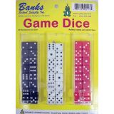 Banks Game Dice, 48 hard plastic