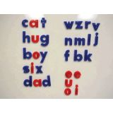 Red & Blue Magnetic Letters, Lowercase