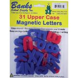 Red & Blue Magnetic Letters, Uppercase