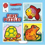 A Set of 3 First Puzzles: Fish, Frog & Turtle