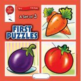 A Set of 3 First Puzzles: Fruits & Veggies