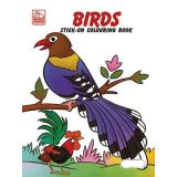 Birds Stick-On Coloring Book