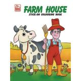 Farm Stick-On Coloring Book
