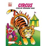 Circus Stick-On Coloring Book