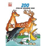 Zoo Stick-On Coloring Book