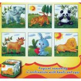 6 in 1 Cube Puzzles, Animals III
