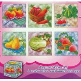 6 in 1 Cube Puzzles, Fruits & Vegetables