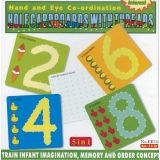 5 in 1 Hole Cardboards with Threads, 2,4,6,8 & 10x10