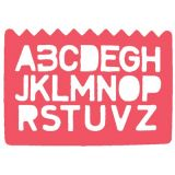 Durable Plastic Stencil Set, Alphabet & Numbers, set of 4
