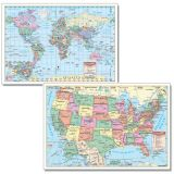 U.S. & World Wall Maps