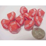 100-900 Place Value Dice, 10 each