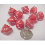 1000-9000 Place Value Dice, 10 each