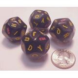 Alphabet Dice, 4 each