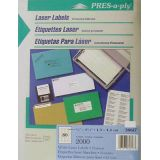 Laser Printer Labels, 1 x 2 5/8 , 3000 per box