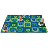 Count on Me Alphabet Rug, 3'10 x 5'5 Rectangle