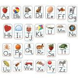 Alphabet Photographic, Realistic Shape Stickers