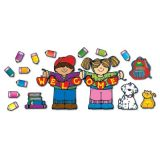 Apple Kids Welcome Bulletin Board Set