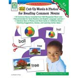 112 Cut-Up Words & Photos for Reading Common Nouns