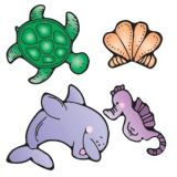 Colorful Cut-Outs, Sea Life