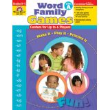 Word Family Games, Level A, Grades K-2