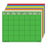 Horizontal Calendar, Blue