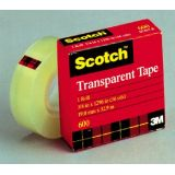 Scotch 600 Transparent Tape, 3/4 x 1296