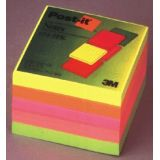 Post-it Notes in Neon Colors, 3 x 3, 1 pad each color yellow, lime, orange, pink, melon