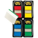 Post-it Flags, 1 Assorted Bright colors with 12 free 1 hanging file folder tabs, 4 per pack