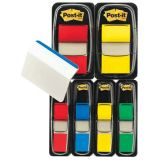 Post-it Flags, 1 1/2 Assorted colors with 12 free 2 hanging file folder tabs, 6 per pack