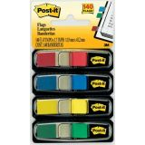 Post-it Smaller-Size Flags, Standard colors, 4 per pack