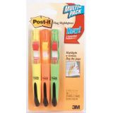 Post-it Flag Highlighters, Orange, Yellow, Green
