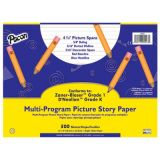 Pacon Multi-Program Picture Story Papers, D'Nealian™ (K), Zaner-Bloser™ (1), 12 x 9, 5/8 (Long) Ruling, 5/16 Dotted Line, 5/16 Skip Space, Ream