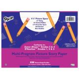 Pacon Multi-Program Picture Story Papers, D'Nealian™ (1, 2, & 3), Zaner-Bloser™ (2 & 3), 12 x 9, 1/2 (Long) Ruling, 1/4 Dotted Line, 1/4 Skip Space, Ream