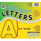 4 Self-Adhesive Letters, Yellow
