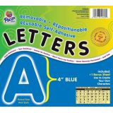 4 Self-Adhesive Letters, Blue