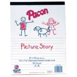Pacon Multi-Program Handwriting Papers, D'Nealian™ (K), Zaner-Bloser™ (1), 10 1/2 x 8, 5/8 (Long) Ruling, 5/16 Dotted Line, 5/16 Skip Space, Ream