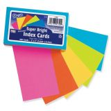 Hot Color Index Cards, Ruled, 75 Count