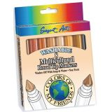 Colors of My Friends Multicultural Markers, 8 count