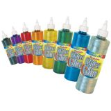 Washable Glitter Glue, 8 color set