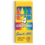Sargent Art Crayons, 4 count tuck box