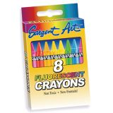 Sargent Art Crayons, Fluorescent 8 count tuck box