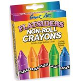 Flatsiders No-Roll Crayons, 8 count