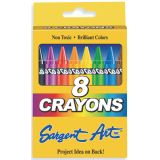 Sargent Art Crayons, 8 count tuck box