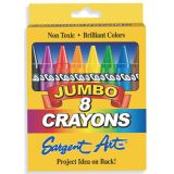 Sargent Art Crayons, Jumbo 8 count tuck box